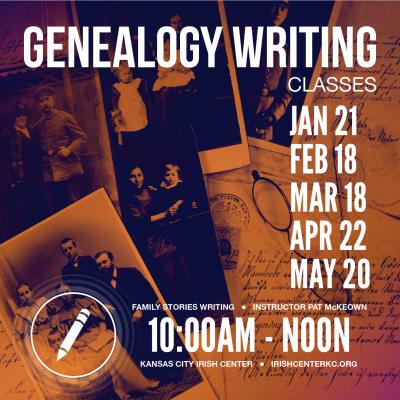 GenealogY Writing Classes - Kansas City Irish Center